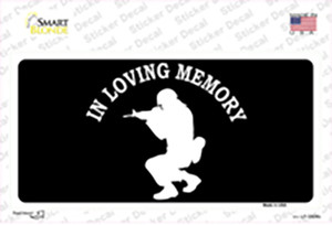 In Loving Memory Squatting Wholesale Novelty Sticker Decal