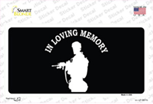 In Loving Memory Standing Wholesale Novelty Sticker Decal