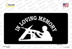 In Loving Memory Lookout Wholesale Novelty Sticker Decal