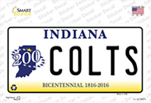 Colts Indiana State Wholesale Novelty Sticker Decal