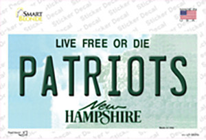 Patriots New Hampshire Wholesale Novelty Sticker Decal