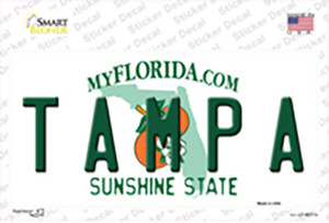 Tampa Florida Wholesale Novelty Sticker Decal