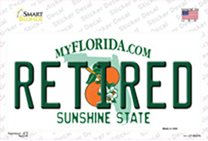 Retired Florida Wholesale Novelty Sticker Decal