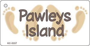 Pawleys Island Footprints Wholesale Novelty Key Chain
