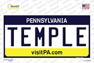Temple Pennsylvania State Wholesale Novelty Sticker Decal