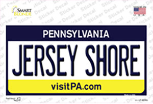 Jersey Shore Pennsylvania State Wholesale Novelty Sticker Decal