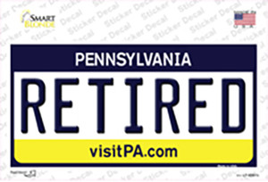 Retired Pennsylvania State Wholesale Novelty Sticker Decal