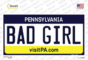 Bad Girl Pennsylvania State Wholesale Novelty Sticker Decal