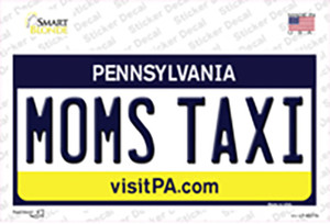 Moms Taxi Pennsylvania State Wholesale Novelty Sticker Decal