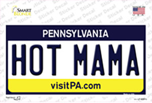 Hot Mama Pennsylvania State Wholesale Novelty Sticker Decal