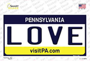 Love Pennsylvania State Wholesale Novelty Sticker Decal