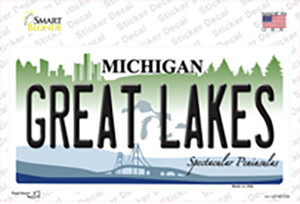 Great Lakes Michigan Wholesale Novelty Sticker Decal