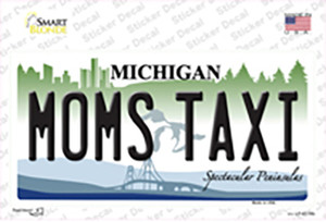 Moms Taxi Michigan Wholesale Novelty Sticker Decal