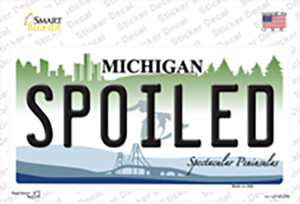 Spoiled Michigan Wholesale Novelty Sticker Decal