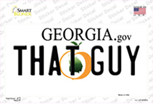 That Guy Georgia Wholesale Novelty Sticker Decal