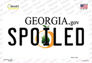 Spoiled Georgia Wholesale Novelty Sticker Decal