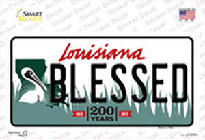 Blessed Louisiana Wholesale Novelty Sticker Decal