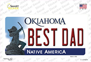 Best Dad Oklahoma Wholesale Novelty Sticker Decal