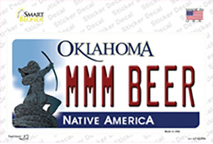 MMM Beer Oklahoma Wholesale Novelty Sticker Decal