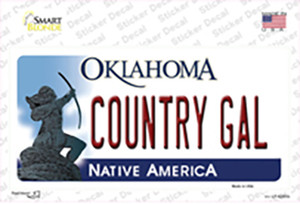 Country Gal Oklahoma Wholesale Novelty Sticker Decal