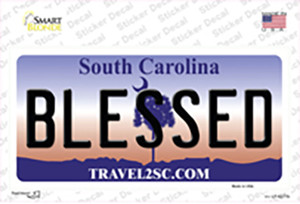Blessed South Carolina Wholesale Novelty Sticker Decal