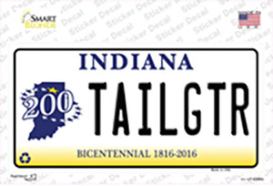 Tailgtr Indiana Background Wholesale Novelty Sticker Decal