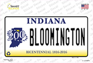 Bloomington Indiana Wholesale Novelty Sticker Decal