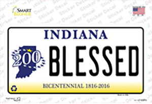 Blessed Indiana Wholesale Novelty Sticker Decal