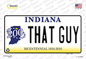 That Guy Indiana Wholesale Novelty Sticker Decal