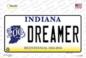 Dreamer Indiana Wholesale Novelty Sticker Decal