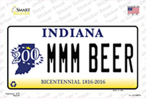 MMM Beer Indiana Wholesale Novelty Sticker Decal