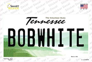 Bobwhite Tennessee Wholesale Novelty Sticker Decal