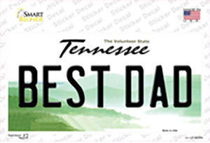 Best Dad Tennessee Wholesale Novelty Sticker Decal
