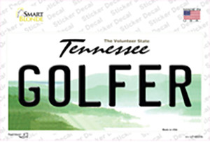 Golfer Tennessee Wholesale Novelty Sticker Decal