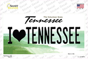 I Love Tennessee Wholesale Novelty Sticker Decal