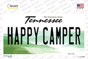 Happy Camper Tennessee Wholesale Novelty Sticker Decal