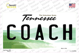 Coach Tennessee Wholesale Novelty Sticker Decal