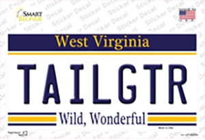 Tailgtr West Virginia Wholesale Novelty Sticker Decal