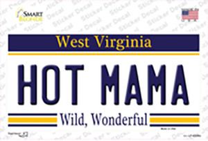 Hot Mama West Virginia Wholesale Novelty Sticker Decal