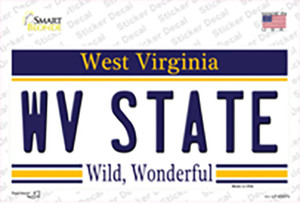 West Virginia State Wholesale Novelty Sticker Decal