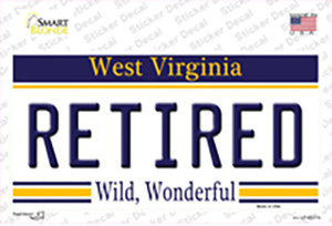 Retired West Virginia Wholesale Novelty Sticker Decal