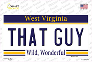 That Guy West Virginia Wholesale Novelty Sticker Decal