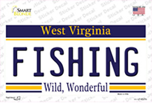 Fishing West Virginia Wholesale Novelty Sticker Decal