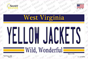 Yellow Jackets West Virginia Wholesale Novelty Sticker Decal