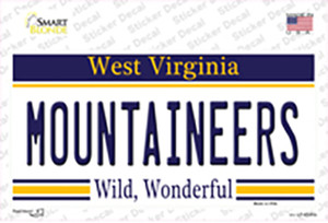 Mountaineers West Virginia Wholesale Novelty Sticker Decal
