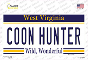 Coon Hunter West Virginia Wholesale Novelty Sticker Decal