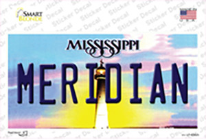 Meridian Mississippi Wholesale Novelty Sticker Decal