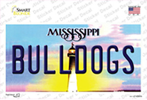Bulldogs Mississippi Wholesale Novelty Sticker Decal