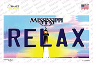 Relax Mississippi Wholesale Novelty Sticker Decal