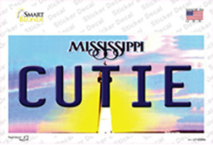 Cutie Mississippi Wholesale Novelty Sticker Decal